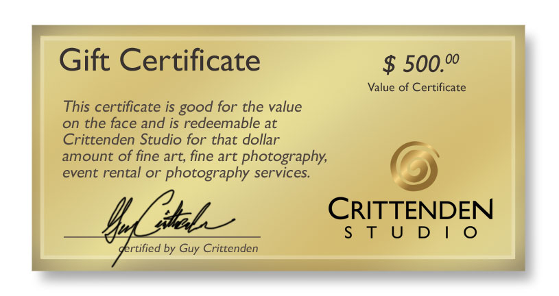 Gift certificate order form crittenden studio gift certificates are available in increments of 100 and are redeemable for the face amount in exchange for fine art yelopaper Images